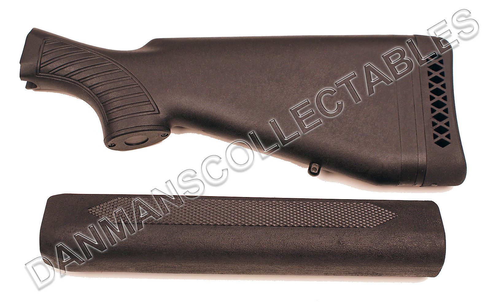 REMINGTON 1100/1187 BLACK SYNTHETIC CONVENTIONAL STOCK AND FOREARM UPGRADE KIT!
