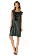 Femme Je Vous Paris: Midnight Suede Sexy Dress - $89.00