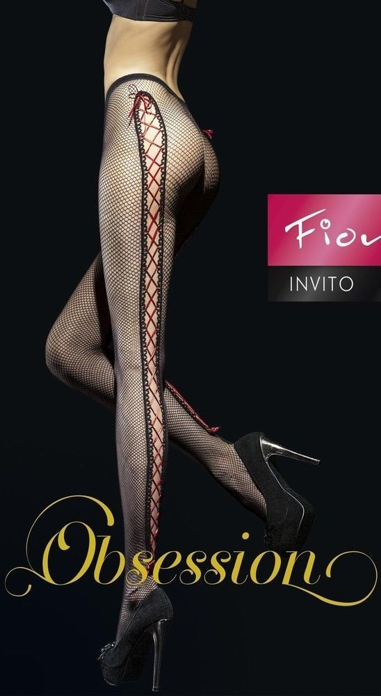 Fiore: Corset Bow Netted Tights - $24.99