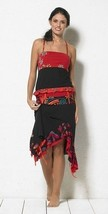 Coline USA: Red Hot Asymmetrical Ruffled Skirt - $39.20