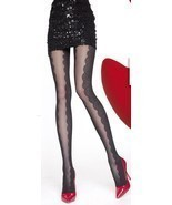 Fiore: Flower Wave Semi Opaque Tights (Only Cappuccino, Few Left!) - $17.43 CAD