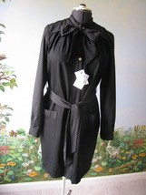 Love Moschino Black Long Sleeve Dress Pearl Buttons Size 8 NWT MSRP $500 - $188.09
