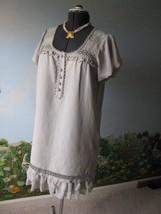 Kensie Women Gray Short Sleeve Button Front Dress SZ Large NWT - $48.51