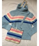 Who's That Girt Kids 2 Piece Blue Knit Sweater and Cross Body Purse Size... - $19.79