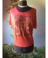 H Q W Women Fashion Orange Batwing Sleeve Studded Top Blouse SZ L NWT - $34.64
