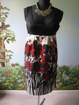 Kensie Blak Black Sleeveless Floral Silk Dress Size M NWT MSRP $98 - $60.19