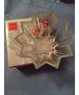 "Mikasa Poinsetia Bloom 7 1/2"" Bowl Clear Glass - $24.74"