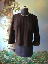 Lorena Antoniazzi Round-neck Brown Made in Italy Sweater SZ 46 - $39.59