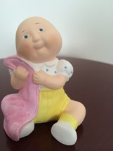 Vintage 1984 A. A. D. Inc. Cabbage Patch Kid with a Blanket Porcelain  Figurine - $18.81