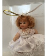 DG Creations Porcelain Blond Doll Ornaments Hand Pinted Eurpean Style NIB - $13.86