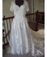 MOORI LEE WHITE WEDDING DRESS GOWN SZ 12 - $356.39