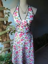 Liz Claiborne Petite Floral Halter Cotton Dress SZ 2P - $39.59