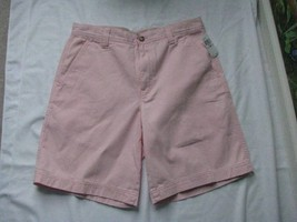 IZOD Saltwater Pink Men Cotton Shorts Size 32W NWT MSRP $48 - $33.66