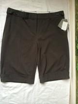 Liz Claiborne Womens Gray Stretch Dress Shorts SZ 14 NWT MSRP $65 - $34.64