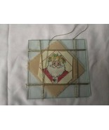 Vintage Finished / Completed Handmade Cross Stitch Christmas Ornament In... - $19.79