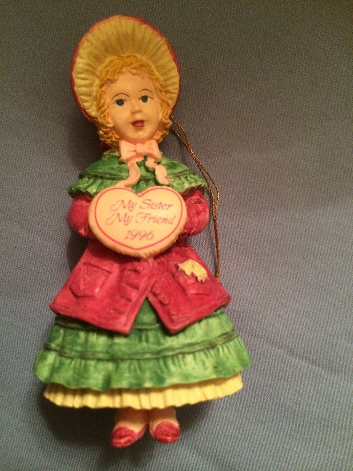 Primary image for Forget Me Not Collectable Ornament To A Dear Sister At Christmas 1996 New