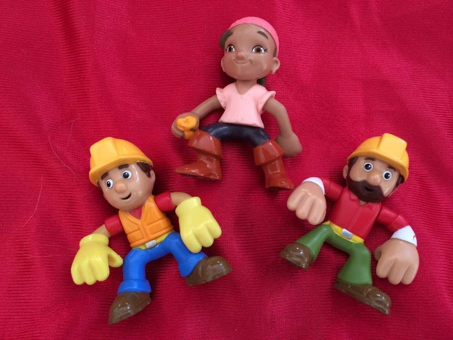 Primary image for Bob the Builder, and Neverland Pirates Izzy Lot of 3 Little Toy Figurine