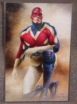 Marvel Captain Britian Glossy Print 11 x 17 In Hard Plastic Sleeve - $24.99