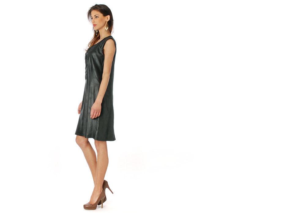 Femme Je Vous Paris: Midnight Suede Sexy Dress image 2