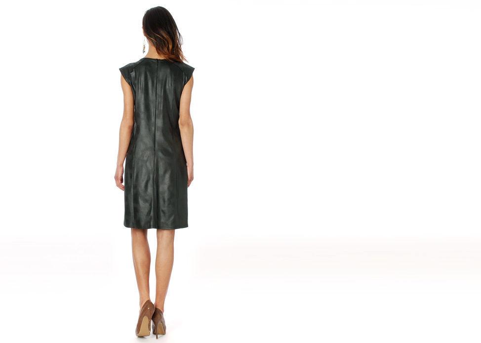 Femme Je Vous Paris: Midnight Suede Sexy Dress image 4