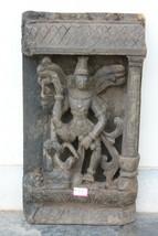 Wall Panel Lord Vishnu Wood Hand Carving Home Decor Vintage collectible - $854.05