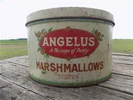 Angelus Marshmallows Vintage Metal Advertising Tin Sign Kitchen Restaura... - $77.00