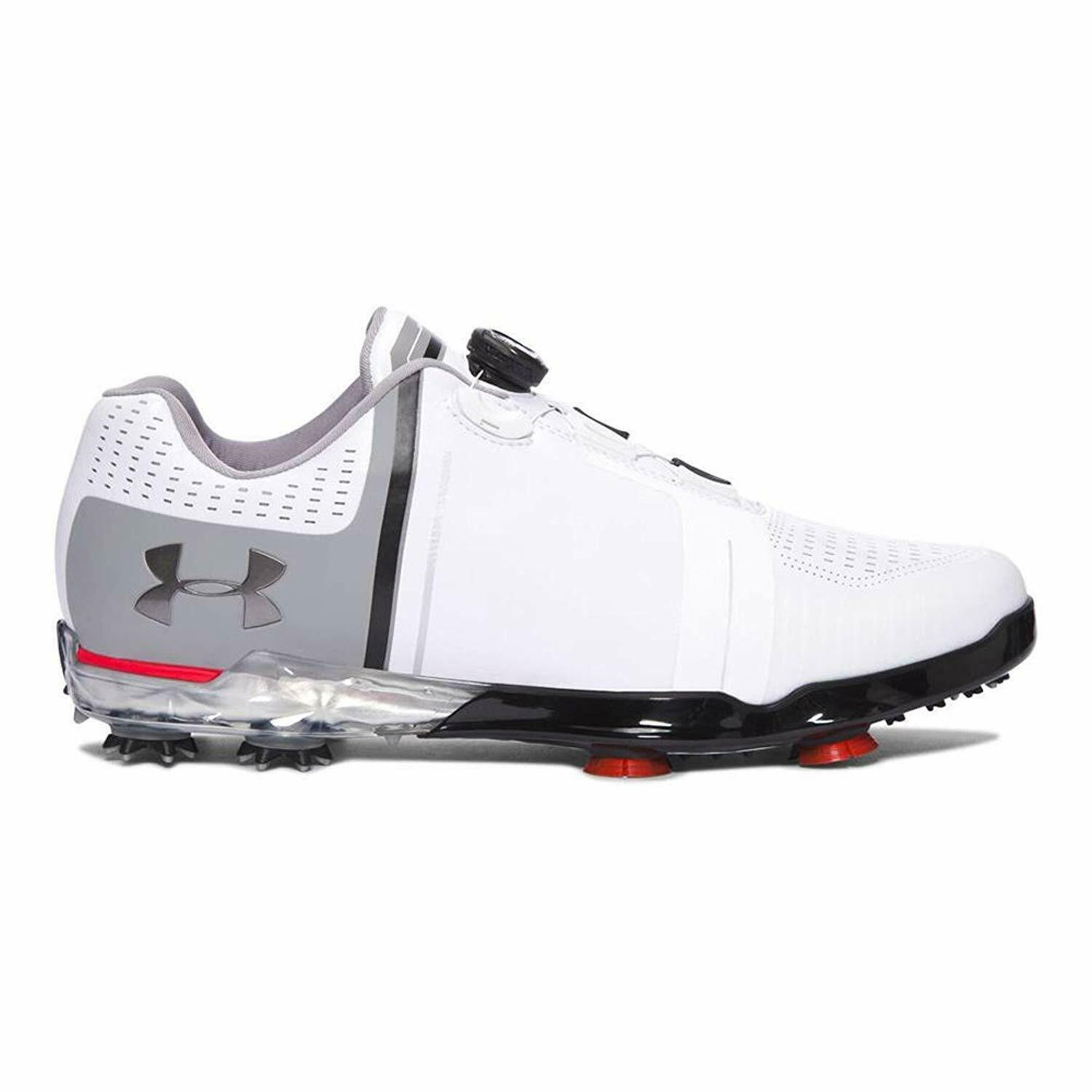 Primary image for Under Armour Spieth One Golf Shoes White 1299226-108 Mens Size 13 E Wide