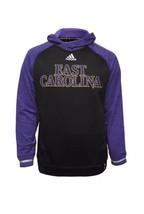 Adidas East Carolina Buccaneers Player Hoodie Purple Black High Visibility SZ LG - $29.69