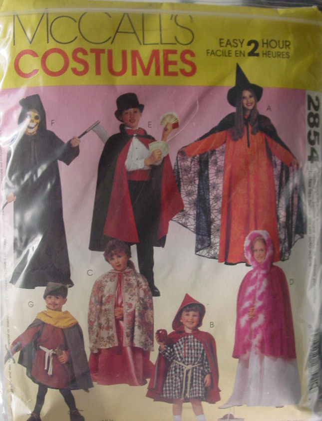 Pattern 2854 (Used) Children's Costumes sz 2-4, 5-6, 7-8,10-12