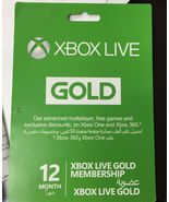 12-Month{1 year} Xbox 360/ONE Live Gold Members... - $48.44