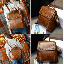 Rivet Design Womens Backpack Travel Leather Han... - $27.71