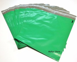 100 GREEN COLOR POLY SHIPPING BAGS 6 x 9 PLASTI... - $9.29
