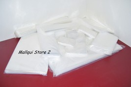 100 CLEAR 10 x 40 POLY BAGS 2 MIL PLASTIC FLAT OPEN TOP - $33.81