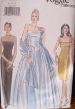 Vogue Pattern 9397 Sizes ,8,10,12 Formal & Semi Formal Dresses - $11.99