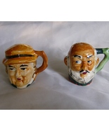 Toby Mug Style Salt and Pepper Shakers Vintage ... - $6.99