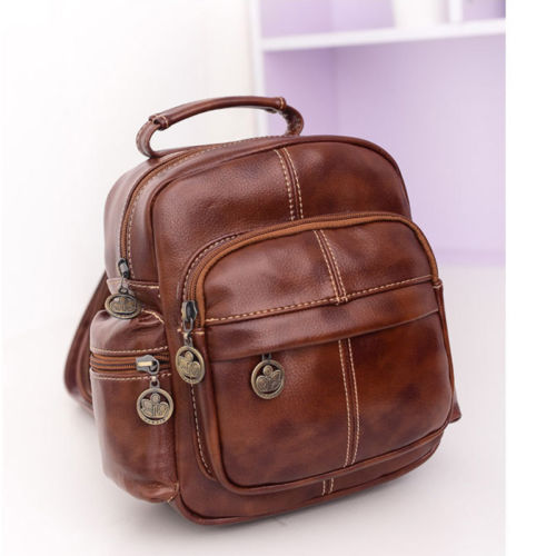 Fashion Women's Leather Backpack Handbag Travel Rucksack Shoulder School Bag image 4