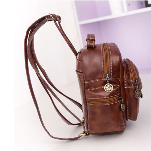 Fashion Women's Leather Backpack Handbag Travel Rucksack Shoulder School Bag image 5