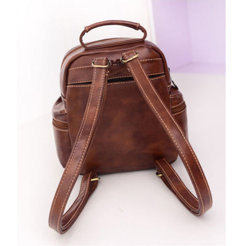 Fashion Women's Leather Backpack Handbag Travel Rucksack Shoulder School Bag image 6