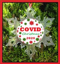 Covid Christmas Ornament - Pandemic - Corona Virus - $12.95