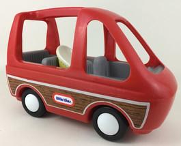 Little Tikes Family Van Red Minivan Vehicle Car Seat Baby Seat Vintage 1990 Toy  - $54.40