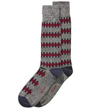 Alfani Men's Overlapping-Stripe Socks (Red, ONE SIZE) - $6.97