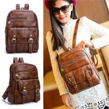 NEW Women's Travel Leather Backpack Handbag Rucksack Shoulder School Bag... - $27.71