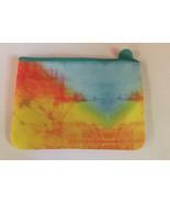 "Ipsy April Glam Cosmetic Bag Tye Dye ""The Dreamer"" Orange Yellow Blue - $5.50"