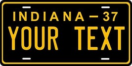 Indiana 1937 Personalized Tag Vehicle Car Auto License Plate - $16.75