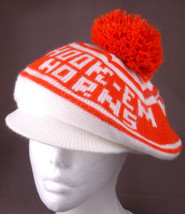 Vtg Texas University Tam o Shanter Hat-Hook-Em Horns-Orange-NCAA-Knit-Retro-Cool - $42.06