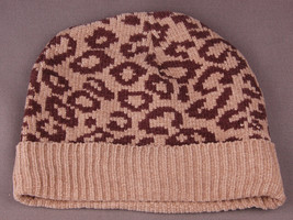 Cheetah Print Winter Hat-Super Soft-Brown-Toque-Benie-Animal Print-Cuff-... - $14.01