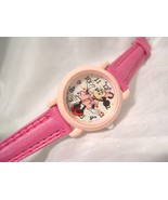 "C04, Minnie Mouse, Ladies, Girls Watch, 7.5"" Hot Pink Band, V811 0450 - $13.87"
