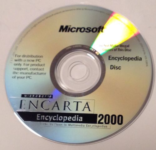 Software CD Rom Microsoft Encarta 2000 and 50 similar items