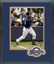 Jonathan Lucroy 2016 Milwaukee Brewers - 11 x 14 Team Logo Matted/Framed Photo - $42.95