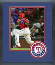 Adrian Beltre 2016 Texas Rangers - 11 x 14 Team Logo Matted/Framed Photo - $42.95